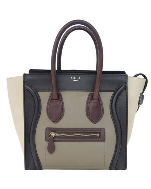 e6df3a719b2c Céline - Black Leather Micro Luggage Tote - Lyst ...