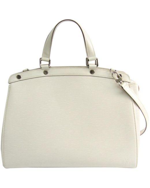 Louis Vuitton White Ivory Epi Leather Brea Gm Bag