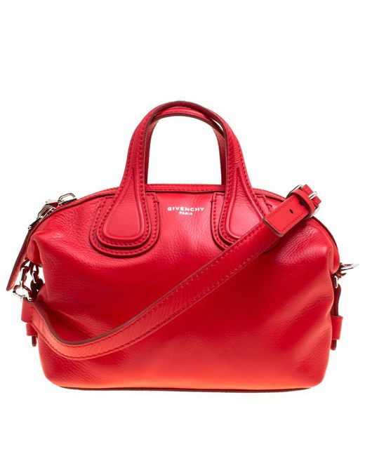 Givenchy - Red Leather Micro Nightingale Crossbody Bag - Lyst