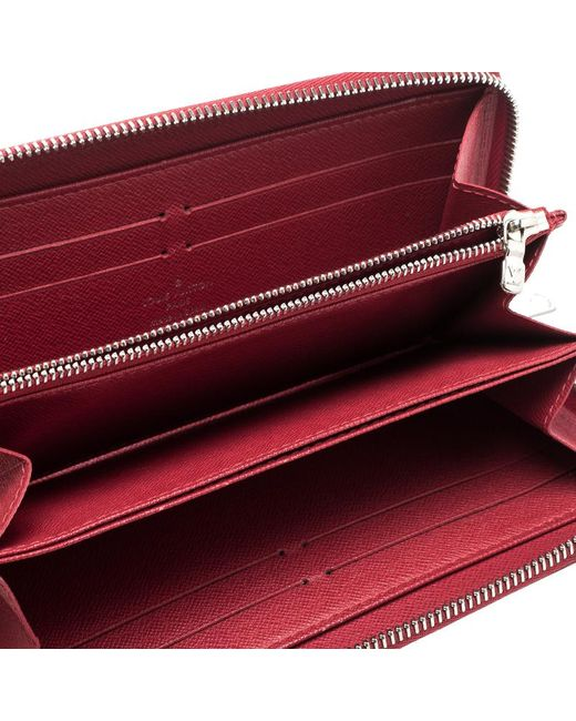 ... Louis Vuitton - Red Epi Leather Zippy Wallet - Lyst ... fdf9b594394