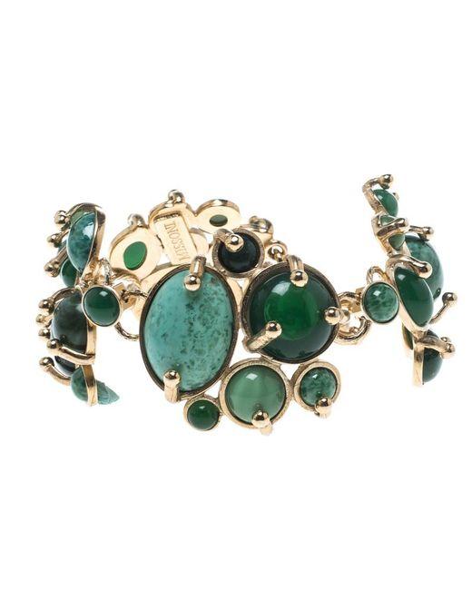 Missoni - Green Sea Asymmetrical Cabochon Gold Tone Bracelet - Lyst