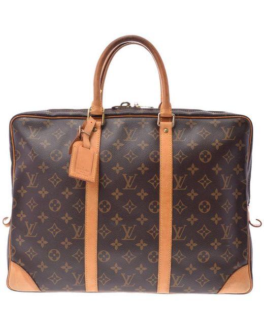 6d309ccf8af67 Louis Vuitton - Brown Monogram Canvas Porte-documents Voyage - Lyst ...
