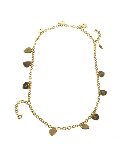 Just Cavalli - Metallic Roberto Cavalli Heart Multichain Tone Necklace - Lyst