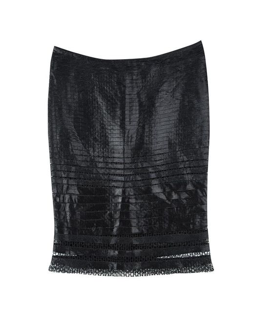 Tom Ford - Black Cutout Lace Detail Tiered Pencil Skirt S - Lyst