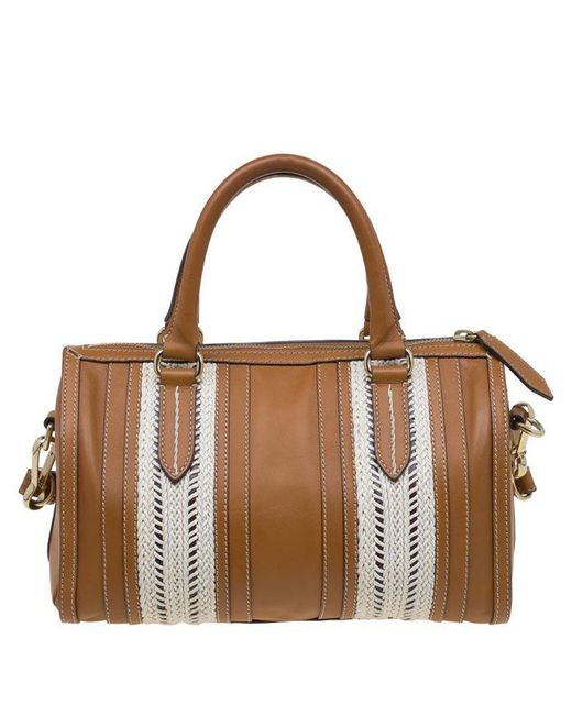 4191ee03209f ... Burberry - Brown Leather Rope Alchester Bowling Bag - Lyst ...