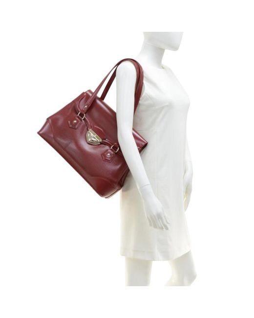 ... Louis Vuitton - Red Rubis Epi Leather Bagatelle Gm Bag - Lyst ... 3209b0e922
