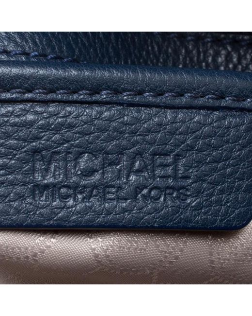 fd77f4909314 ... MICHAEL Michael Kors - Navy Blue Leather Top Handle Bag - Lyst ...