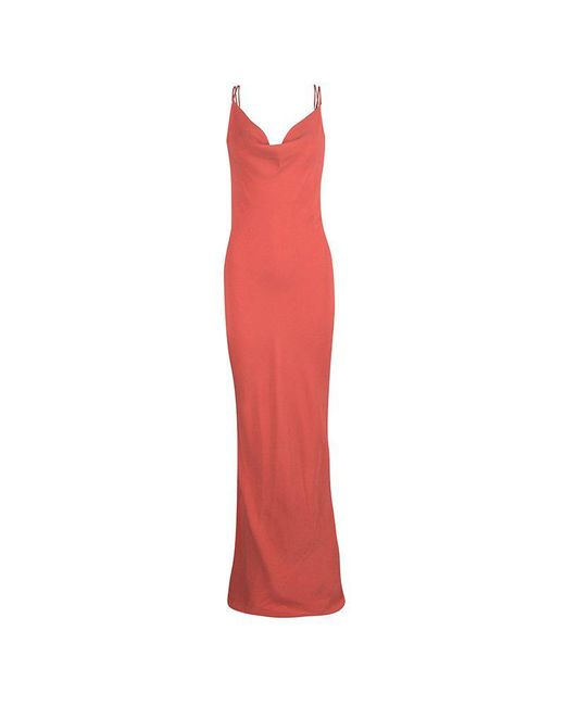 Joseph - Orange Silk Couture Basel Bias Cut Silk Crepe Maxi Dress L - Lyst