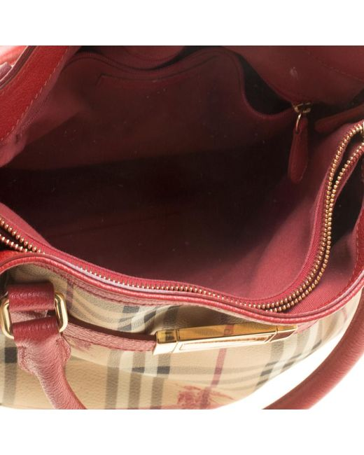 cbb380f6c89 ... Burberry - Natural  red Haymarket Check Pvc And Leather Medium  Golderton Tote - Lyst ...