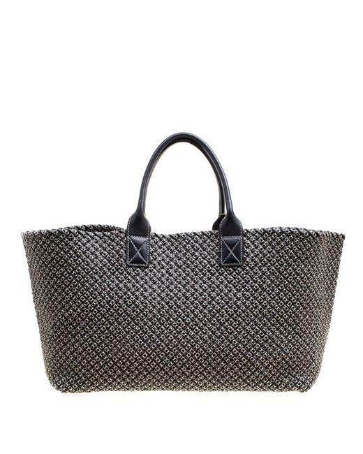 b4a97b56974d Bottega Veneta - Gray Dark Woven Leather Large Limited Edition 053 500  Cabat Tote ...
