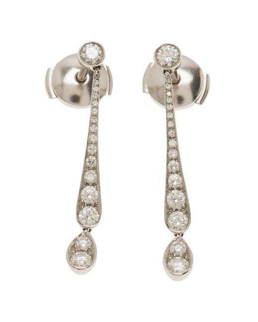 Tiffany & Co - Metallic Jazz Diamond Platinum Earrings - Lyst