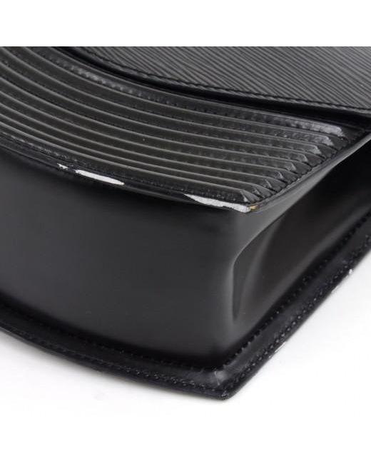 18cb9581699 ... Louis Vuitton - Black Noir Epi Leather Vintage Tilsitt Bag - Lyst