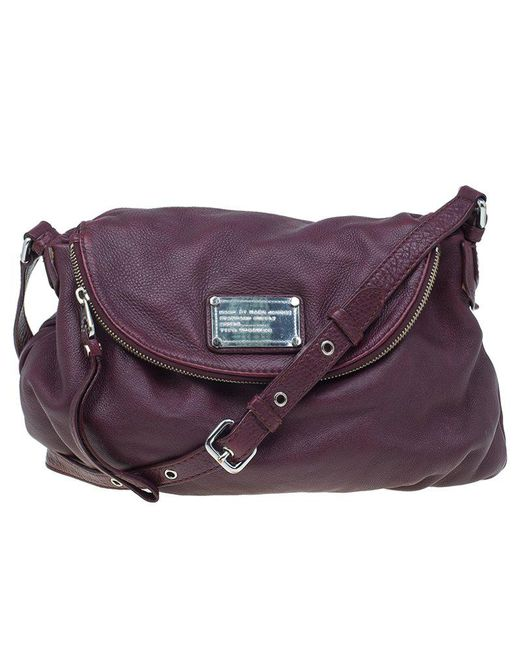Marc By Marc Jacobs - Red Burgundy Leather Classic Q Natasha Crossbody Bag - Lyst