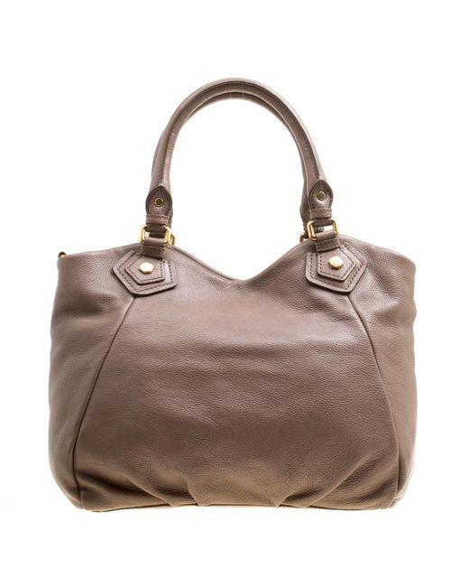 4c23c0d8864a ... Marc By Marc Jacobs - Brown Leather Classic Q Francesca Top Handle Bag  - Lyst ...