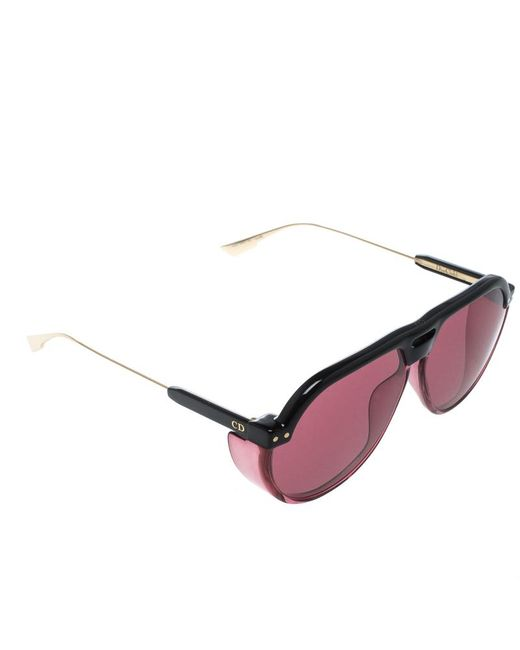 6fbc2833b98 Lyst - Dior Black  Pink Club 3 Aviator Sunglasses in Pink - Save 50%