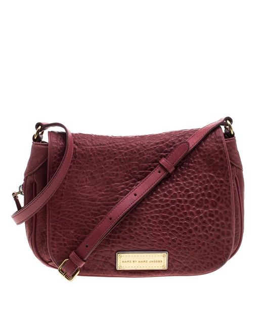 Marc By Marc Jacobs - Red Leather Washed Up The Nash Crossbody Bag - Lyst
