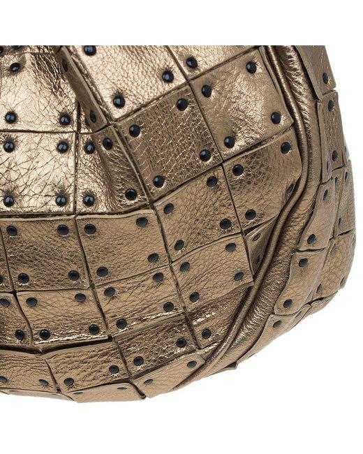 ... Burberry - Metallic Leather Studded Prorsum Warrior Hobo - Lyst ... fb0b45651f39f