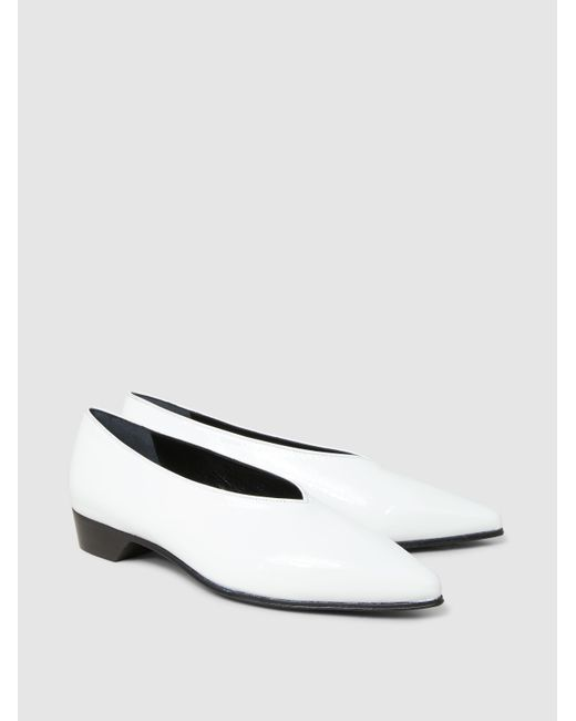 ALUMNAE Patent-Leather Point-Toe Flats tGfH3