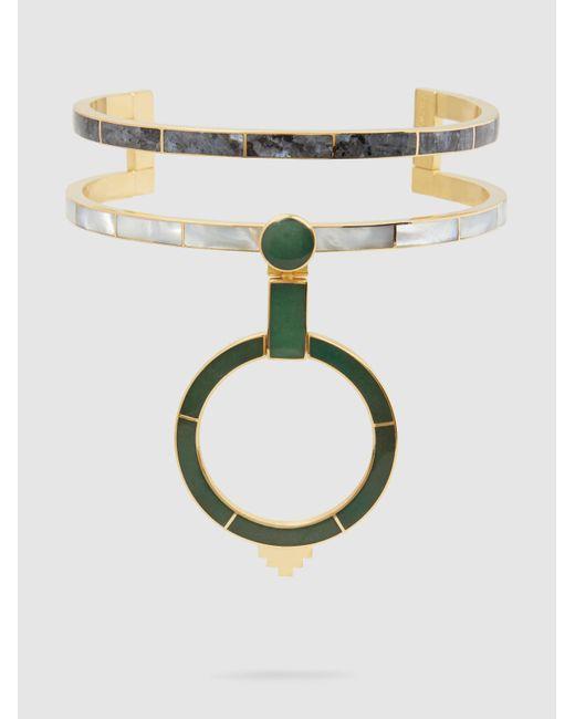 Monica Sordo | Metallic Yma Multi-stone 21kt Gold-plated Choker | Lyst