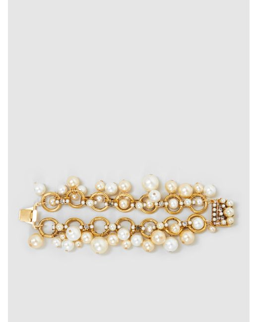 Erickson Beamon | Metallic Gold-plated Pearl Bracelet | Lyst