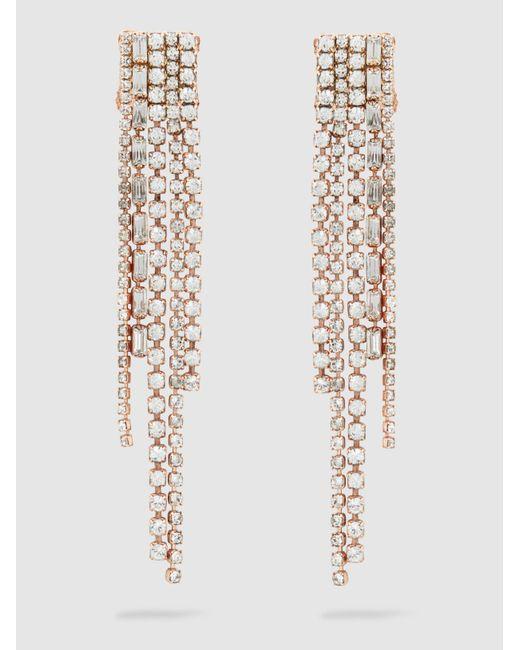 Erickson Beamon   Metallic Long Crystal Earrings   Lyst