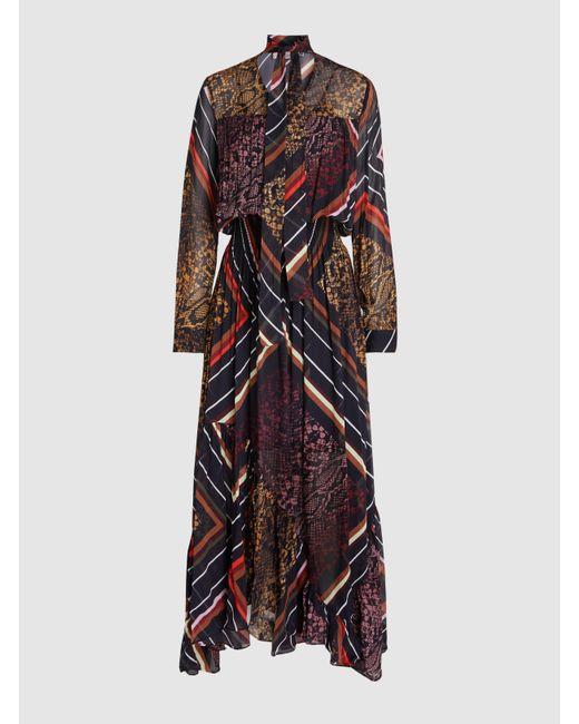 Preen Line - Multicolor Elva Printed Pleated Georgette Maxi Dress - Lyst