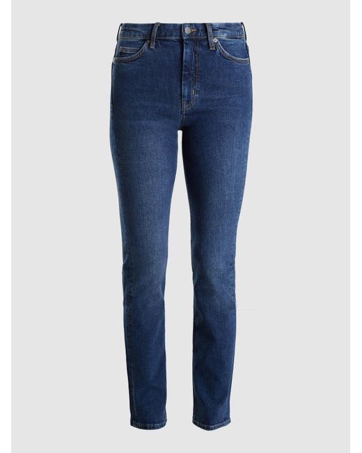 MiH Jeans - Blue Daily High-rise Straight-leg Jeans - Lyst