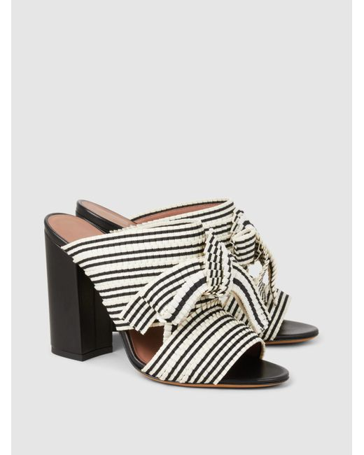Tabitha Simmons Beau Striped Woven Block-Heel Sandals Cheap Sale Outlet Store zLelPG