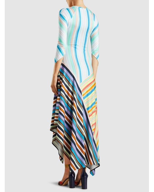 Cheap Sale 100% Guaranteed Free Shipping Manchester Striped Jersey Midi Dress Peter Pilotto Outlet Get Authentic Clearance Pay With Visa qfd85B