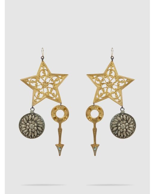 Erickson Beamon - Metallic Crystal & Gold-plated Breaker Of Chains Earrings - Lyst