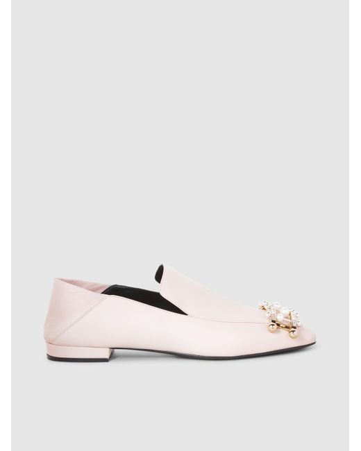Coliac - White Ernesto Embellished Leather Loafers - Lyst