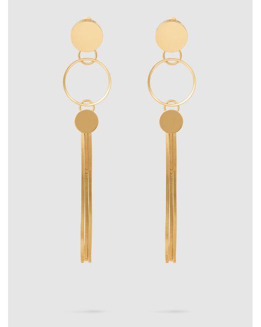 Lanvin - Multicolor Long Earrings With Clips - Lyst