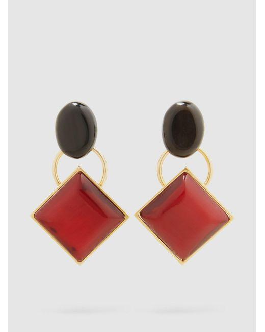 Marni | Metallic Gold-tone Horn Earrings | Lyst