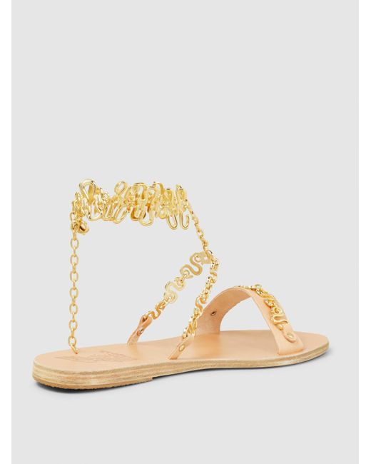 Clearance Discount Low Shipping Online Nyx Chain-Embellished Leather Sandals Ancient Greek Sandals vEPkPJMQ