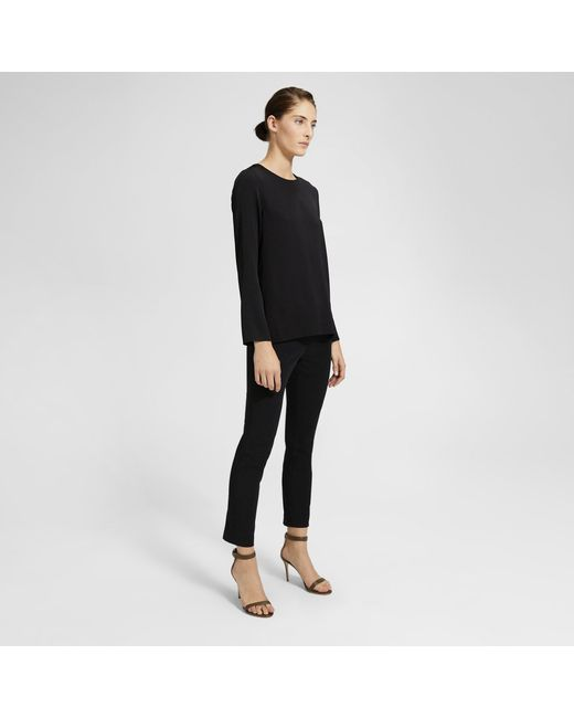 d90628951d5 ... Theory - Black Alpaca Blend Twisted Turtleneck - Lyst ...
