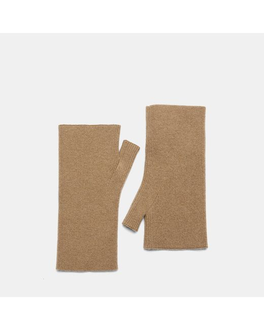 Theory - Natural Cashmere Fingerless Gloves - Lyst