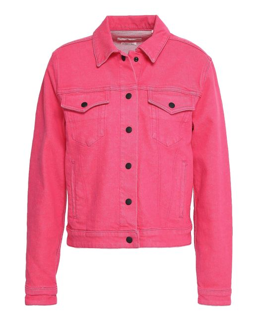 Rag & Bone - Pink Denim Jacket - Lyst
