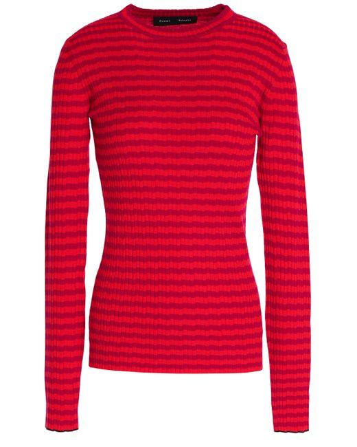 Proenza Schouler - Multicolor Strped Silk And Cashmere-blend Top - Lyst