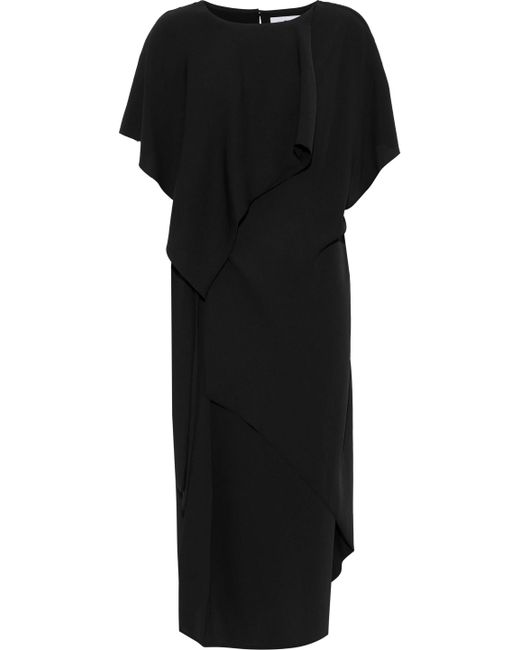 Chalayan - Black Layered Knotted Crepe Dress - Lyst