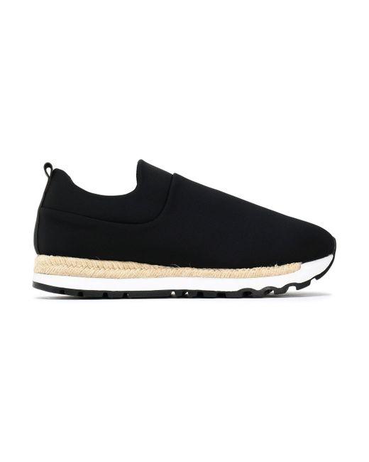 DKNY - Black Neoprene Espadrille Sneakers - Lyst