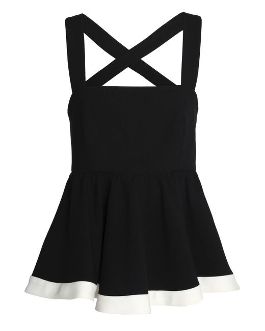 MILLY - Black Riley Cady Peplum Top - Lyst