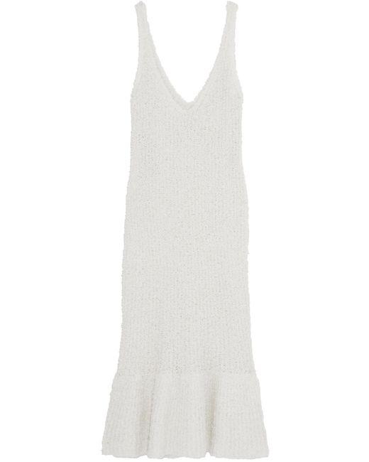 By Malene Birger | White Fillon Textured Stretch-knit Midi Dress | Lyst
