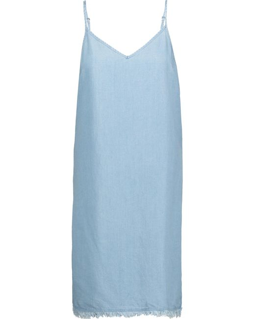 Splendid   Blue Frayed Denim Dress   Lyst