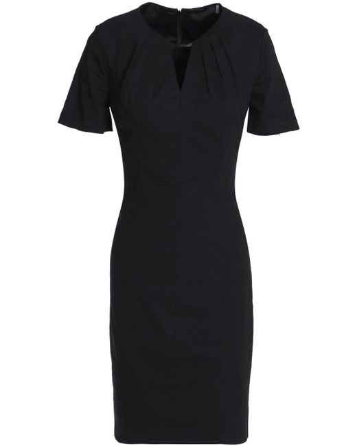 Elie Tahari - Black Cutout Linen-blend Dress - Lyst