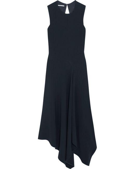 Stella McCartney - Blue Cutout Asymmetric Stretch-cady Dress - Lyst