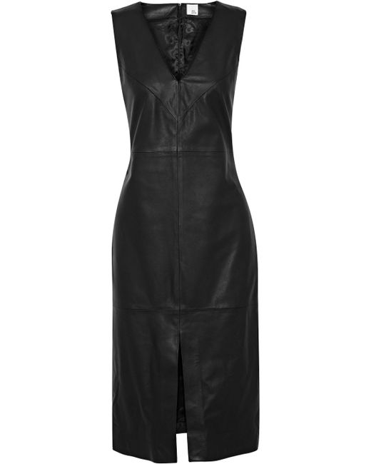 Iris & Ink - Black Barbara Leather Dress - Lyst