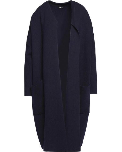 Maje | Blue Stretch-knit Coat | Lyst