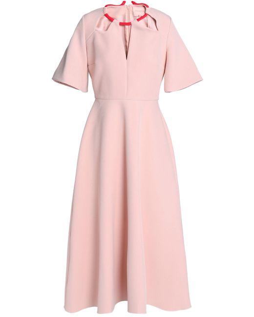 Roksanda - Pink Fluted Cutout Crepe Midi Dress - Lyst