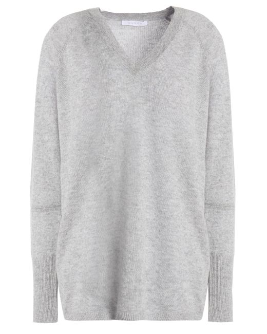Duffy - Gray Cutout Wool And Cashmere-blend Sweater - Lyst