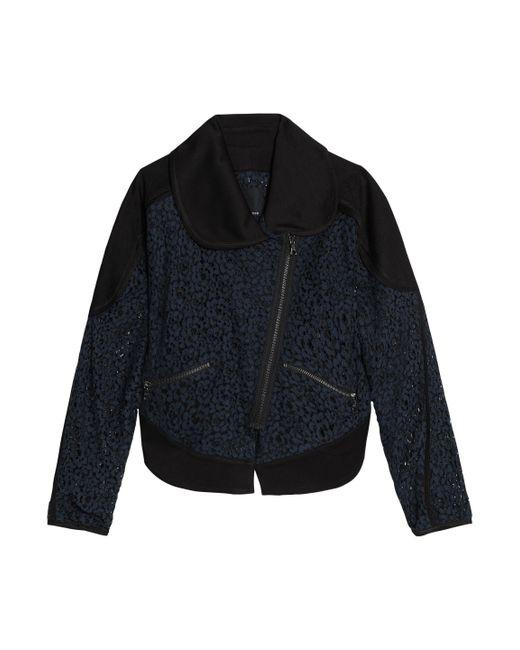 Marissa Webb - Blue Crepe-paneled Corded Lace Jacket - Lyst